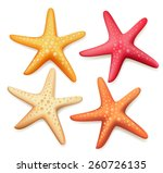 Realistic Colorful Starfish Se...