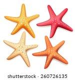 Realistic Colorful Starfish Se...