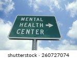 "a sign that reads "" mental... | Shutterstock . vector #260727074"