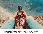 traveler woman searching... | Shutterstock . vector #260727794