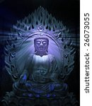 buddha religious illustration...   Shutterstock . vector #26073055