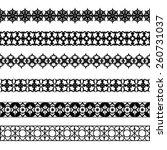 set of black borders isolated... | Shutterstock .eps vector #260731037