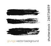 vector set of grunge brush... | Shutterstock .eps vector #260734859