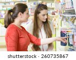 young female pharmacist having... | Shutterstock . vector #260735867