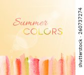 watercolor striped background...   Shutterstock .eps vector #260737274