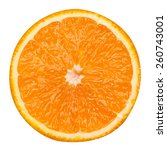 Slice Of Orange Fruit Isolated...