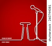 vector illustration of stand up ... | Shutterstock .eps vector #260744081