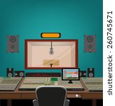 music and recording industry. a ... | Shutterstock .eps vector #260745671
