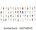 united colleagues corporate... | Shutterstock . vector #260748545
