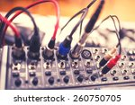 audio and video jack cable... | Shutterstock . vector #260750705