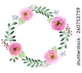 vector watercolor flower design ... | Shutterstock .eps vector #260753759