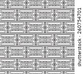 geometric seamless pattern in... | Shutterstock .eps vector #260754701