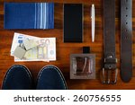 set of number men's accessories ... | Shutterstock . vector #260756555