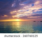 rock sunset evening  | Shutterstock . vector #260760125