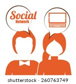social network design over... | Shutterstock .eps vector #260763749