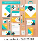 white corporate id template... | Shutterstock .eps vector #260765201