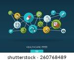abstract medicine background... | Shutterstock .eps vector #260768489
