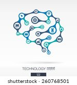 abstract technology background... | Shutterstock .eps vector #260768501