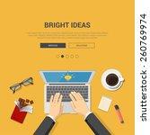 mockup modern flat design... | Shutterstock .eps vector #260769974
