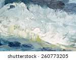 abstract oil painted texture on ... | Shutterstock . vector #260773205