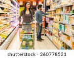 young couple shopping in a... | Shutterstock . vector #260778521