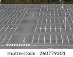 vacant parking lot  parking... | Shutterstock . vector #260779301