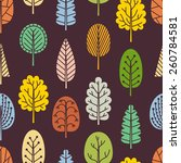 seamless pattern with hand... | Shutterstock .eps vector #260784581