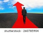 Businessman Walking On Red...