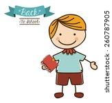 back to school design  vector... | Shutterstock .eps vector #260787905
