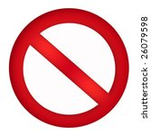 restriction sign | Shutterstock . vector #26079598
