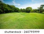 Green Summer Park Garden With...