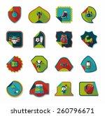 sport sticker flat banner...   Shutterstock .eps vector #260796671