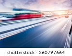 car driving on freeway at... | Shutterstock . vector #260797664