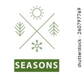 Four Seasons Thin Line Icon...