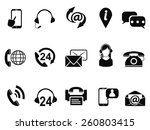 contact service icons set | Shutterstock .eps vector #260803415