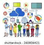 big data sharing online global... | Shutterstock . vector #260806421