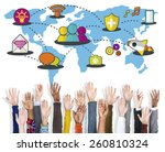 social network sharing global... | Shutterstock . vector #260810324