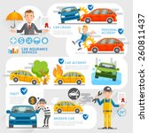 car insurance business... | Shutterstock .eps vector #260811437