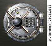 bank round metallic vault on... | Shutterstock .eps vector #260813585