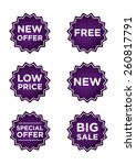 purple promo stickers for...