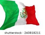 mexican national waving flag 3d ... | Shutterstock . vector #260818211