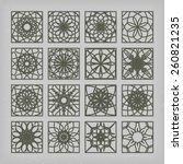arabic square ornament set.... | Shutterstock .eps vector #260821235