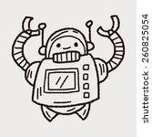 doodle robot | Shutterstock .eps vector #260825054