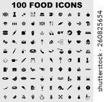 vector food icon set | Shutterstock .eps vector #260825654