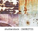 rusty metallic surfaces great... | Shutterstock . vector #26082721