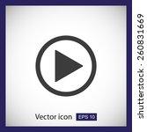play button web icon | Shutterstock .eps vector #260831669