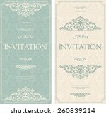 set of antique greeting cards ... | Shutterstock .eps vector #260839214