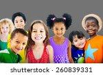 diversity children friendship...   Shutterstock . vector #260839331