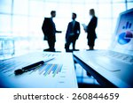 close up of document with pen... | Shutterstock . vector #260844659