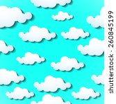 clouds background. vector... | Shutterstock .eps vector #260845199